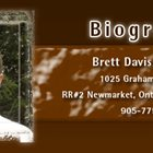 Canadian Artist Brett Davis biography